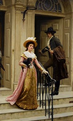 ART: NEXT DOOR NEIGHBOURS, BY EDMUND BLAIR LEIGHTON