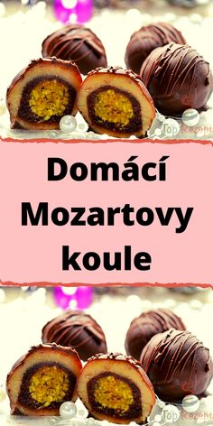 Domácí Mozartovy koule Snacks, Muffin, Sweets, Beef, Cooking, Breakfast, Cake, Desserts, Recipes