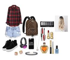"""Teen girl style"" by krisleighnicole03 ❤ liked on Polyvore featuring Madewell, Glamorous, WithChic, Casetify, Tory Burch, LULUS, L'Oréal Paris, Victoria's Secret and Lauren B. Beauty"