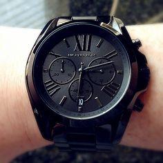 Michael Kors Black Bradshaw Watch - obsessed.