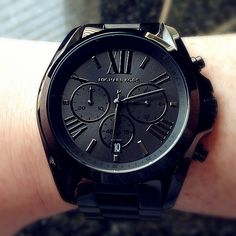 Michael Kors Black Bradshaw Watch - obsessed.