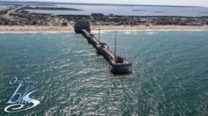 Aerial view of Jennette's Pier, Nags Head, NC