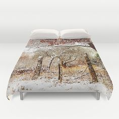 Painterly winter Duvet Cover by Pirmin Nohr