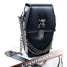 I found 'Black Punk and Gothic Fashion Coffin Shoulder Bags Handbags Purses SKU-11408029' on Wish, check it out!