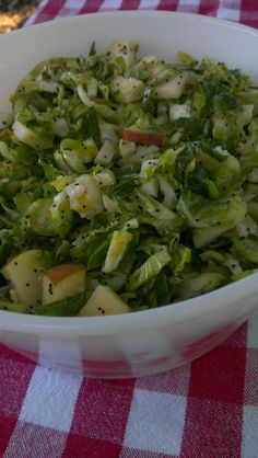 Brussels Sprouts Slaw with Lemon-Poppy Seed Dressing