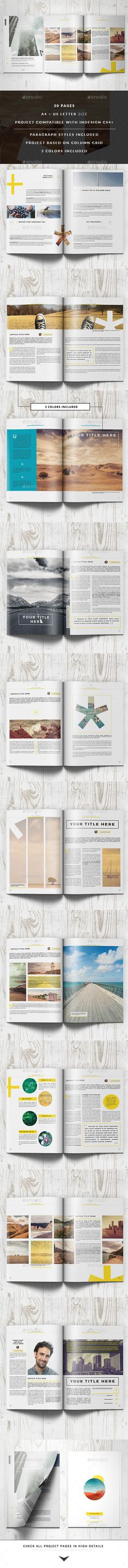 Clean Magazine Template #design #journal Download: http://graphicriver.net/item/clean-magazine-template/11422937?ref=ksioks
