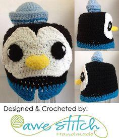 Ravelry: Octo Medic Penguin pattern by Awe Stitch - Octonaut Crochet Hat ~ Design idea - eyes & hat
