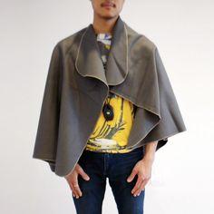 Men's Wool Cape - Brownstone
