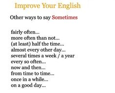 """Other ways to say """"sometimes"""""""