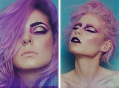 Photo: Amy Nelson Blain. MUA: Chereine Waddell. Pastel makeup. Pastel hair. Dewy skin. Perfect makeup.