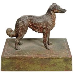 Vintage Cast Iron Retriever Door Stop | From a unique collection of antique and modern more folk art at https://www.1stdibs.com/furniture/folk-art/more-folk-art/