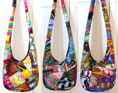 MADE TO ORDER Hobo Bag, Patchwork, Crazy Quilt, Sling Bag, Colorful, Hippie Purse, Crossbody Bag