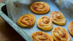 Cheese scrolls | This recipe relies on the quality of the dough and the quality of the cheese, so don't scrimp on either. Rough puff pastry is a lot easier to make than the conventional version, but is still light, puffy and deliciously buttery. In its absence, use a good store-bought butter puff pastry. Cheap pastry with margarine simply won't taste anywhere near as nice. They're best eaten the same day, but can be stored in an airtight container for a day or two. Rough Puff Pastry, Butter Puff Pastry, Puff Pastry Dough, Pastry Dough Recipe, Puff Pastry Recipes, Puff Pastries, Cheese Recipes, Delicious Cake Recipes, Yummy Cakes