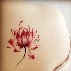Pure And Beautiful lotus Pattern Body Art Waterproof Tattoo Sticker New Tattoos