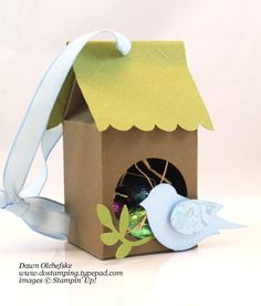 Stampin' Up! Mini Milk Carton Birdhouse & Video - DOstamping with Dawn, Stampin' Up! Demonstrator