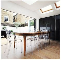 clear chairs dining room - Google Search