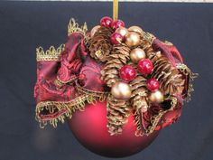 Ornament decorated for Christmas