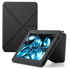 """cool Amazon Kindle Fire HDX 7"""" Standing Polyurethane Origami Case, Mineral Black  [will only fit Kindle Fire HDX 7"""" (3rd Generation)]"""