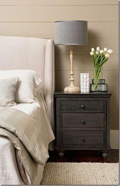 Minimalist Gray Nightstand for Bedroom