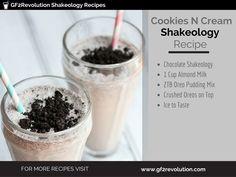 Cookies N Cream is my absolute favorite treat. It feels like a decad… Cookies N Cream is my absolute favorite treat. It feels like a decadent cookie milkshake yet is actually nutritious. Protein Smoothies, Protein Shake Recipes, Protein Shakes, Fruit Smoothies, Milkshake Recipes, Healthy Shakes, Smoothie Recipes, Thrive Shake Recipes, Milkshakes