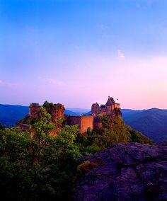 Ruins of 12th century Aggstein Castle above the Rhine, Wachau Region, Austria