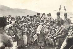 Mustafa Kemal Atatürk and Latife Hanım are talking with kids..