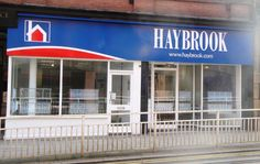 Haybrook Estate Agents (Sheffield) - fret cut LED illumination on all text with LED parabeam lighting unit above for maximum effect. #Fascia #EstateAgents #Signage