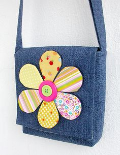 Made by Irinelli: Handbag with flower 2 of 2