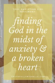 Click to check out Melissa of My Hill and Valley's testimony on how she found God in the midst of anxiety and brokenness. And how God led her to restore her broken marriage and out of a intense party lifestyle, and instead, find true freedom in Christ. God fixes the broken and finding God in the darkness can lead to healing.   ---> christian testimonies, christian testimonies true stories, christian testimony, christian testimony true story, God fixes broken hearts, God saves the broken