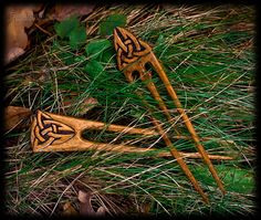 Celtic hairpins by pagan-art.deviantart.com on @deviantART