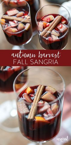 A delicious Autumn Harvest Fall Sangria cocktail recipe! – Inspired by Charm with Michael Wurm Jr. A delicious Autumn Harvest Fall Sangria cocktail recipe! A delicious Autumn Harvest Fall Sangria cocktail recipe! Fall Sangria, Sangria Cocktail, Fall Cocktails, Fall Drinks, Vodka Cocktails, Autumn Cocktail Recipes, Mixed Drinks, Alcoholic Drinks, Yummy Drinks