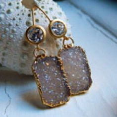 Natural gem earrings from Etsy.
