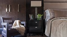 coffee bean, black and soft mink palette - luxurious bedroom - Lawson Robb - Architecture and Interior Design