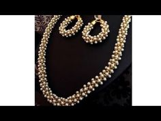 DIY tutorials|how to make silk thread jewellery with pearl chain at home - YouTube