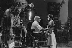 "1959 - Curd Jurgens, Robert Siodmark & Romy Schneider  - tournage de ""Katia"" - photo: J-Pierre Darlo"