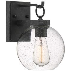 "Quoizel Barre 10 1/4"" High Gray Ash Outdoor Wall Light - #85H07 
