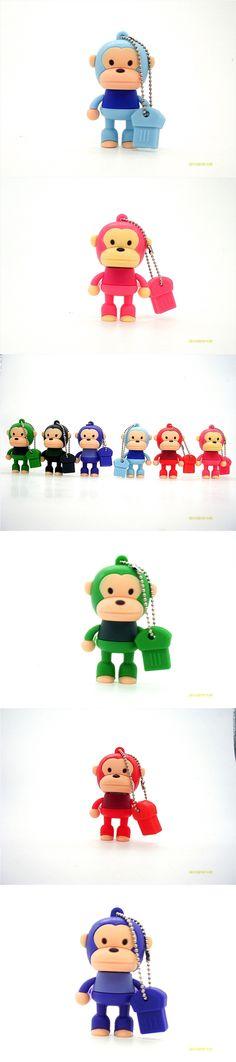 Hot Sale Cartoon Cute Monkey USB Flash Drive Pendrive 4GB 8GB 16GB USB Stick External Memory Storage Pen Drive