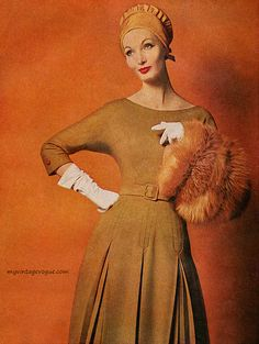 Evelyn Tripp wearing Mort Schrader 1960