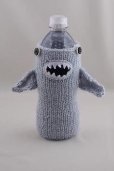 shark water bottle cozy
