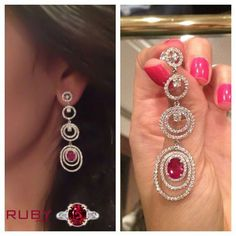By adorning this designer ruby stone long pair of earrings you will feel beautiful and energetic