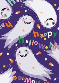Halloween Tutorial, Halloween Painting, Halloween Prints, Halloween Patterns, Halloween Items, Halloween Pictures, Holidays Halloween, Happy Halloween, Tela