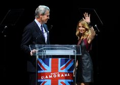 Macy's CEO Terry Lundgren with Nicole Richie at the Glamorama fashion show