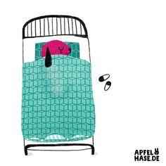 Bett / bed . . . #bed #bedtime #bett #sleep #schlafen #schlafenszeit #müde #gemütlich #kinderbuchillustration #apfelhase #illustrationlove #illustrationart #illustration #germanillustrator #illustratorsoninstagram #kinderbuch #hund #dog #character #schlafenistschön #schlafenderhund #niedlich #süß #gemalt #gezeichnet #bettwäsche #bettdecke
