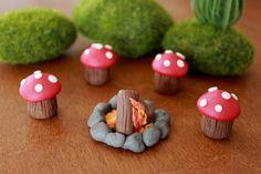 Campfire Set -  Terrarium Accessory - Fairy Garden - Miniature Garden - Accent