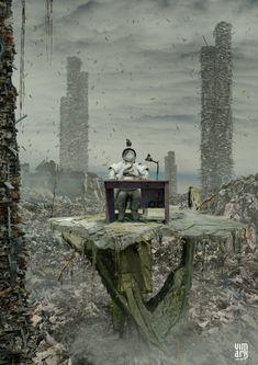 As surreais ilustrações e foto-manipulações de Max Mitenkov