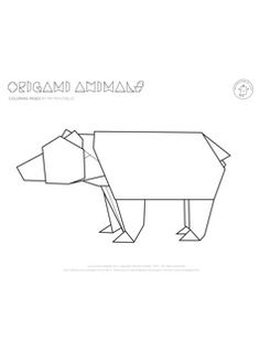 Origami Animal Coloring Pages | Mr Printables