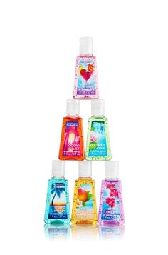 Tie a ribbon around one of these cute #tropical mini sanitizers from Bath & Body Works attached to a B gift card as valentines gifts for each friend!