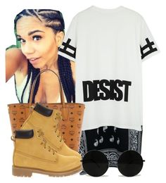 """""""."""" by trillest-queen ❤ liked on Polyvore featuring MCM and Docksteps"""