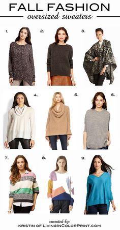 Fall Fashions | Oversized Sweaters
