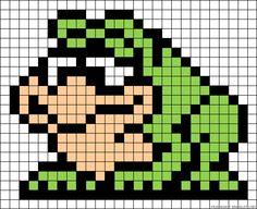 Michigan J. Frog perler bead pattern